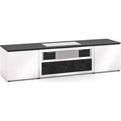 Salamander Designs Miami 245S Cabinet for integrated LG UST Projector - Gloss White, Black Top - X/LG1/245S/GW/BK