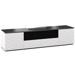 Salamander Designs Milan 245 Cabinet for integrated Hisense UST Projector - Gloss White - X/HSE245ML/GW