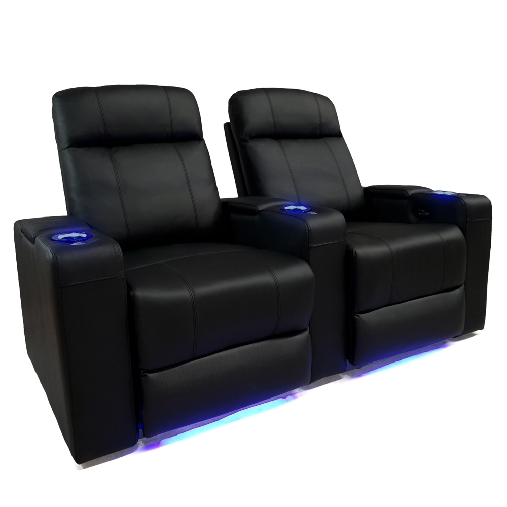 Valencia Piacenza Motorized Home Theater Seating Top Grain Leather 2