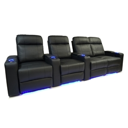Valencia Piacenza Motorized Home Theater Seating - Top Grain Leather
