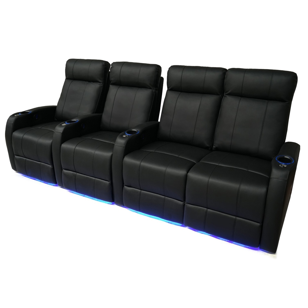 Valencia Syracuse Motorized Home Theater Seating Top Grain Leather 4 Love Right