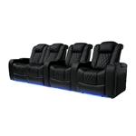 Valencia Tuscany Motorized Home Theater Seating Top Grain Leather 4 Love Left