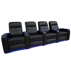 Valencia Verona Motorized Home Theater Seating - Top Grain Leather