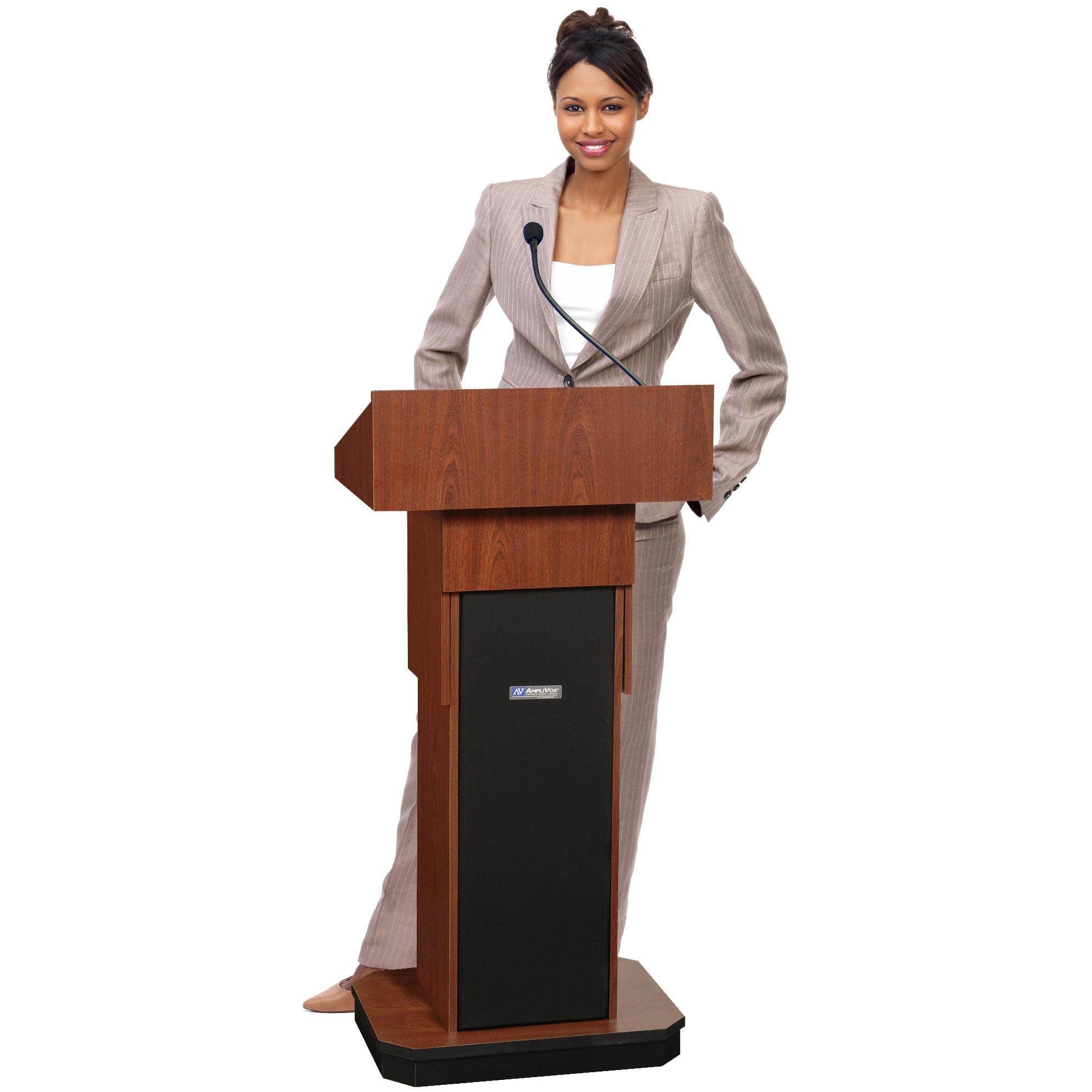 Adjustable Height Executive Sound Column Full Floor Lectern With